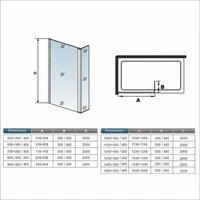 Mamparas de Ducha Panel Fijo + Lateral 30cm Movible 8mm Antical Barra 70-120cm - 50+30x200cm