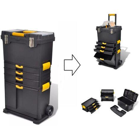 Caisse / Valise à outils mobile sur roulettes 3 en 1 + Divers rangements