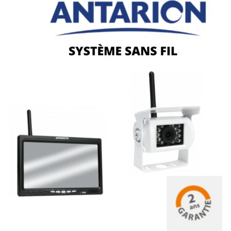 ANTARION - Camera de recul sans fils pour camping car + écran LCD 7'