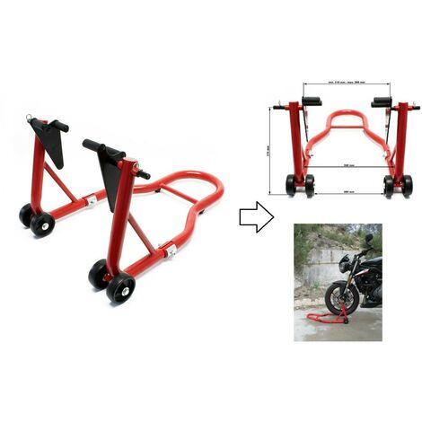 Béquille d'atelier pour moto max 450kg - Support roue avant moto