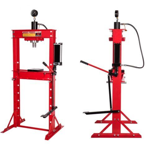 Presse hydraulique d 'atelier 30 Tonnes a pédale et manomètre