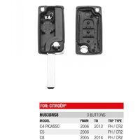 Boitier télécommande Plip 3 Boutons Citroen C4 Picasso, C5, C8