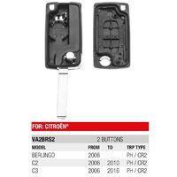 Boitier Plip Télécommande 2 Boutons Citroen Berlingo, C2 et C3