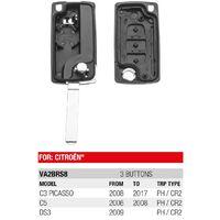 Boitier Plip Télécommande 3 Boutons Citroen C3 Picasso, C5, DS3
