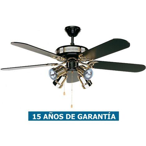 Ventilador de techo con luz CasaFan 513207 BLACK MAGIC 132 Negro