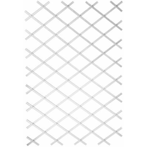 Nature Treillis de jardin 100 x 300 cm PVC Blanc