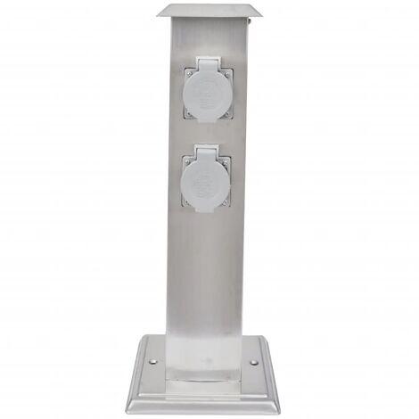 4 positions extérieur Prise de courant prises pilier métal Outdoor Jardin Extérieur ip44