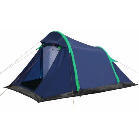 Tente de Camping avec Poutres Gonflables 320x170x150/110 cm Bleu et Vert