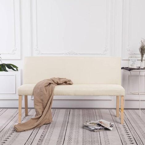 Banc Polyester 139,5 cm Crème