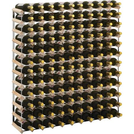 Casier à bouteilles 120 bouteilles Pinède solide