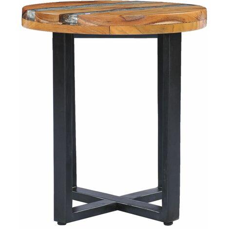 Table basse 40 x 45 cm Bois de teck massif et polyrésine