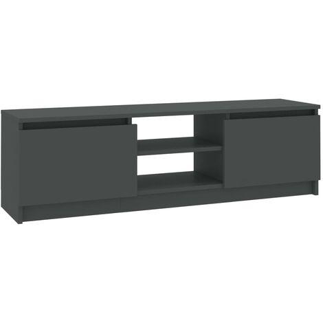 Meuble TV 120x30x35,5 cm Aggloméré Gris