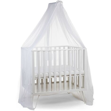 CHILDHOME Porte-baldaquin avec moustiquaire Blanc