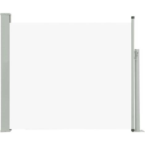 Auvent Latéral Rétractable de Patio Crème 100x300 cm