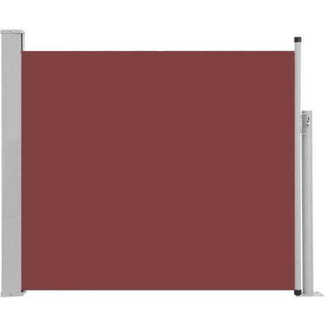 Auvent Latéral Rétractable de Patio Marron 100x300 cm
