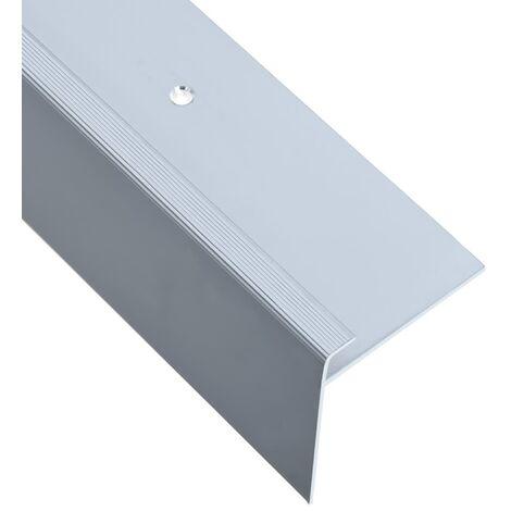 Nez de marche Forme en F 15 pcs Aluminium 90 cm Argenté