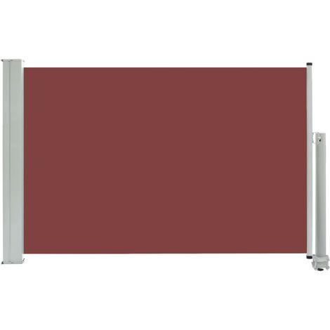 Auvent Latéral Rétractable de Patio Marron 60x300 cm