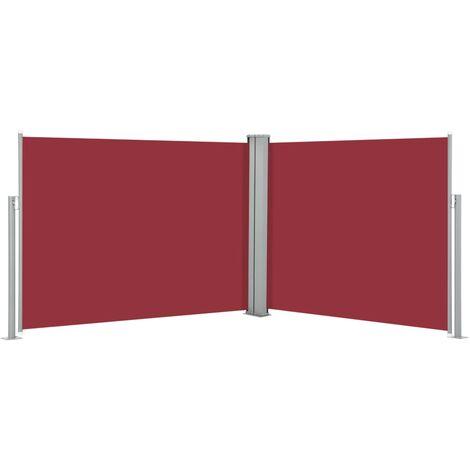 Auvent Latéral Rétractable Rouge 140 x 1000 cm