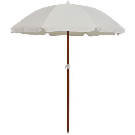 Parasol avec mât en acier 180 cm Sable