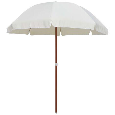Parasol avec mât en acier 240 cm Sable