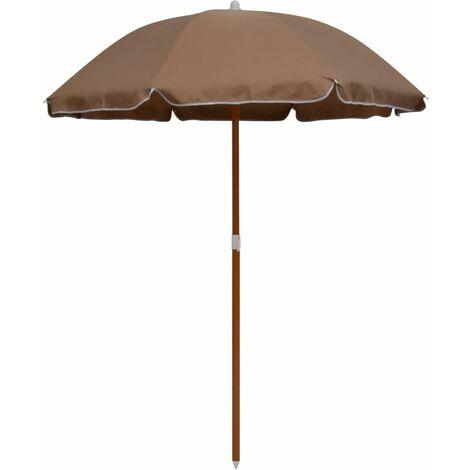 Parasol avec mât en acier 180 cm Taupe