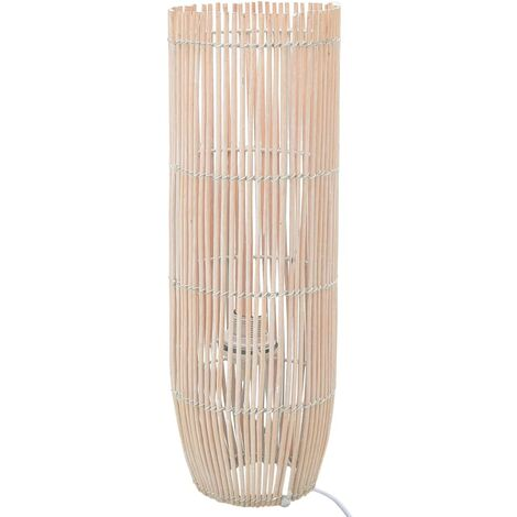 Lampadaire sur pied Osier Blanc 72 cm E27