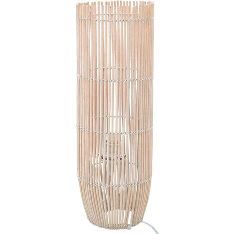 Lampadaire sur pied Osier Blanc 84 cm E27