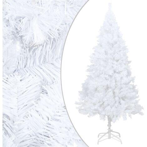 Arbre de Noël artificiel avec branches épaisses Blanc 180cm PVC
