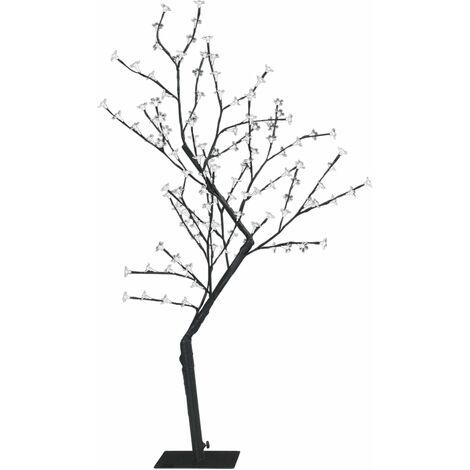Sapin de Noël 128 LED blanc chaud Cerisier en fleurs 120 cm
