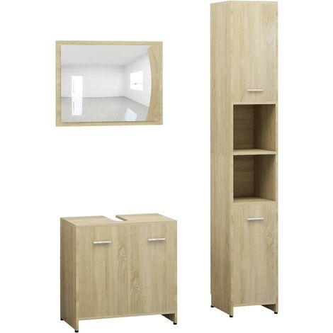 Miroir Structure m/étal Noir Mat Vasque Plan de Toilette Suspendu 60 cm Meuble de Salle de Bain Bois et M/étal Will