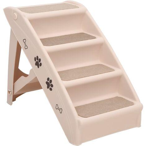 Escaliers Pliables pour Chiens Crème