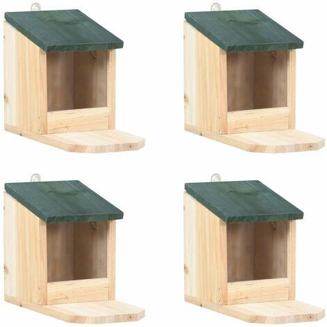 Maisons pour écureuils 4 pcs Bois de sapin