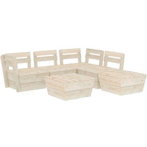 Salon de jardin palette 6 pcs Bois d'épicéa imprégné