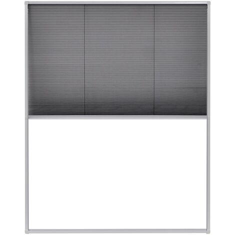 Moustiquaire plissée pour fenêtre Aluminium 60x160 cm