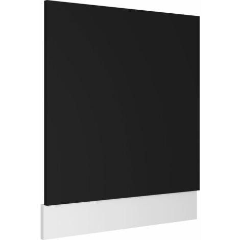 Panneau de lave-vaisselle Noir 59,5x3x67 cm Aggloméré
