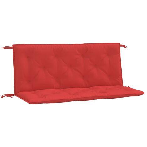 Coussin de balancelle Rouge 120 cm Tissu