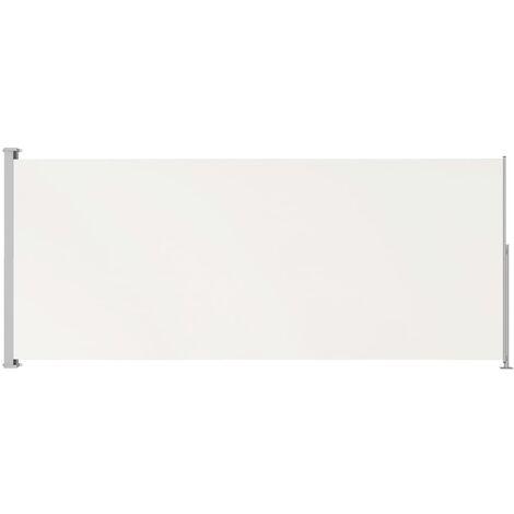 Auvent latéral rétractable de patio 180x500 cm Crème