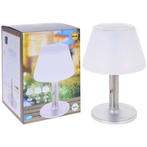 ProGarden Lampe de table solaire à LED Blanc