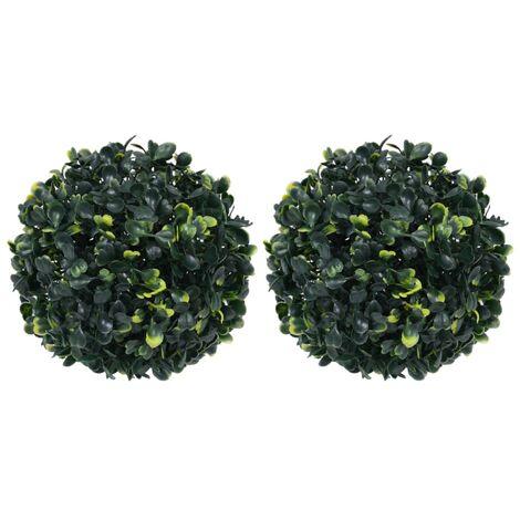 Boules de buis artificielles 2 pcs 22 cm