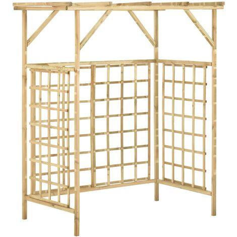 Pergola de jardin pour poubelles doubles Bois de pin imprégné