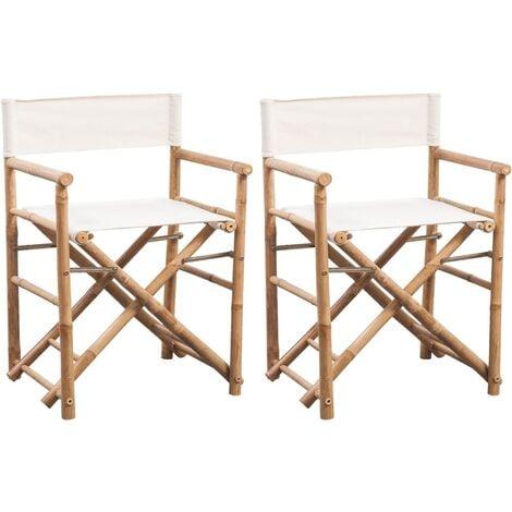 YTYZD 2 pi/èces Chaise Amovible Remplacement Covers Chaise Pliante en Toile Couverture de Remplacement Bambou Chaise Directeur Chaise
