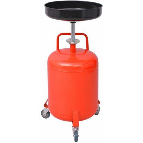 Pompe à vidange d'huile usagée 49,5 L Acier Rouge