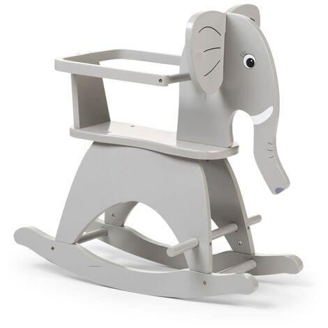 CHILDHOME Éléphant à bascule Gris CWRELPH