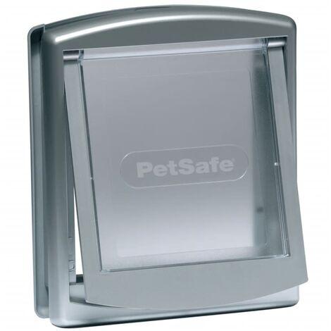 PetSafe Porte à 2 voies pour chiens 737 Petit 17,8 x 15,2 cm Argenté