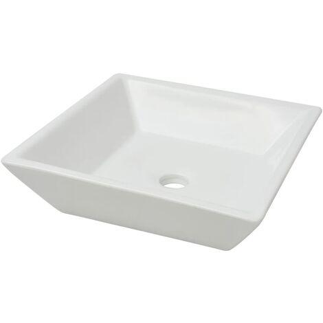 Lavabo carrée Céramique Blanc 41,5 x 41,5 x 12 cm