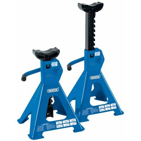 Draper Tools VOREL Chandelles à crémaillère 2 pièces 4 tonnes 30878