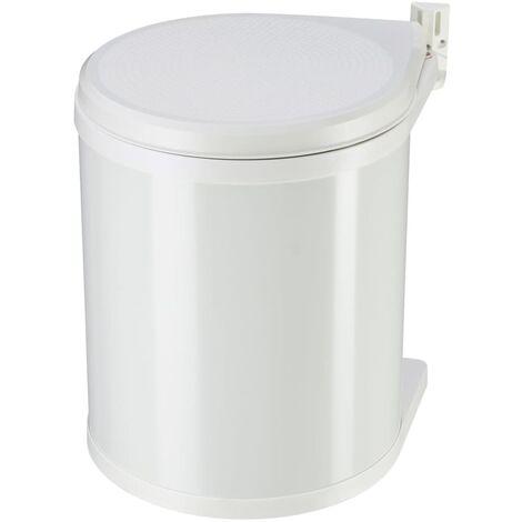 Hailo Poubelle de placard Compact-Box Taille M 15 L Blanc 3555-001