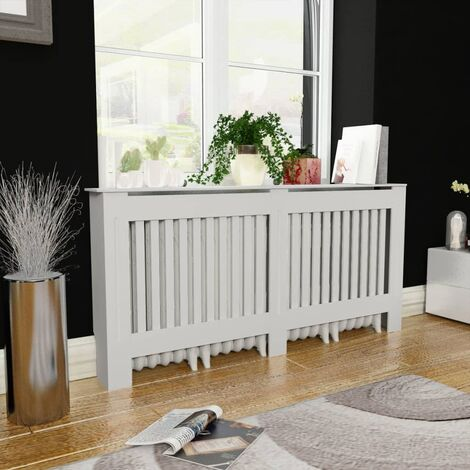 Cache-radiateur Blanc MDF 172 cm