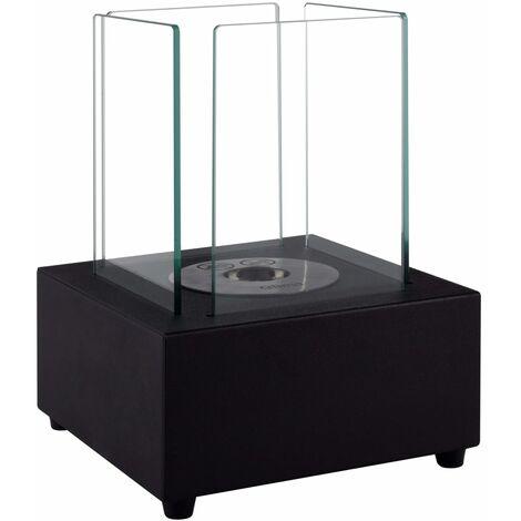 Qlima Brûleur à l'éthanol carré 22 x 22 x 30 cm FFB 022