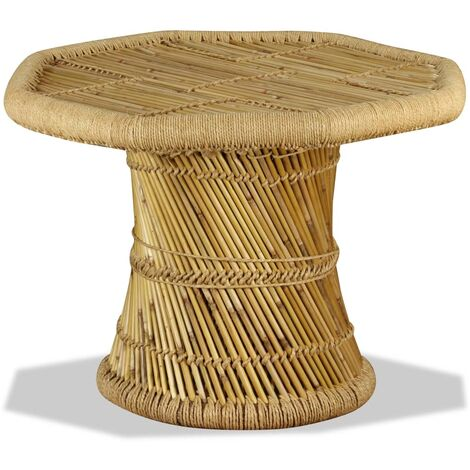 Table Basse Octogonale Bambou Naturel